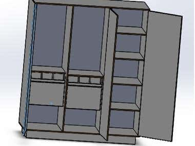 Design of Cupboard For manufacturing