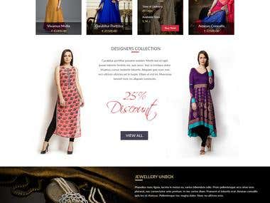 Ethnic wear - shopping layout