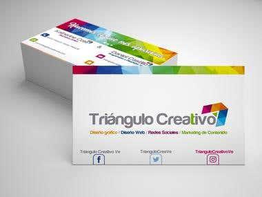 Tarjeta de Presentación- Triangulo Creativo