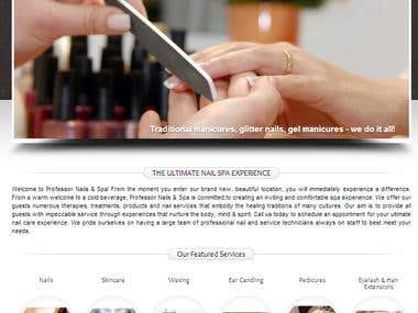 Saloon/Spa website