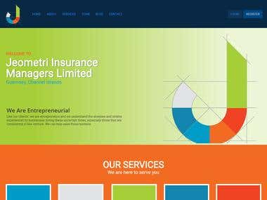 Jeometri one page website