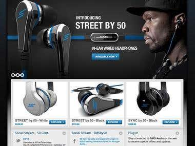 Online store site.