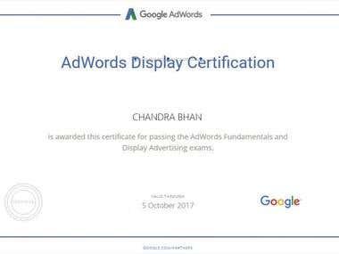 Google AdWords Display Advertising Certificate