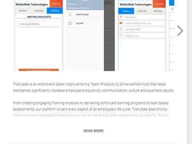Application Development(Trainybee Client Tracker)
