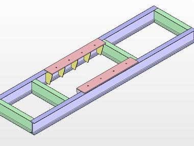 Steel construction chassis drawing