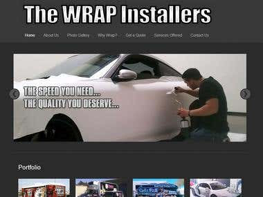 Wordpress Site for Wrap Installer