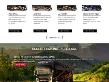 Selling bus Website