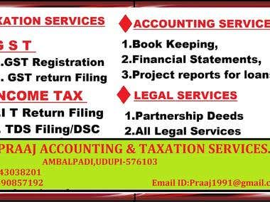 I am A Tax Consultant & Auditor presently A GST Practicner