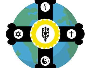 Logo en forma de cruz