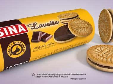 Lavaita Biscuit Packaging design