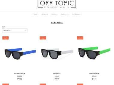 Product Descriptions for Sunglasses