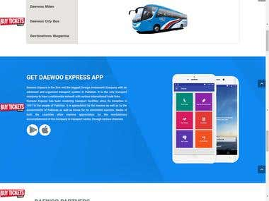 Travel agency Daewoo website