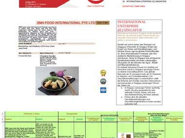 Anuga 2017 - Exhibitor Folder Singapore, English into German