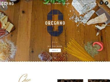 Oregano restaurant website