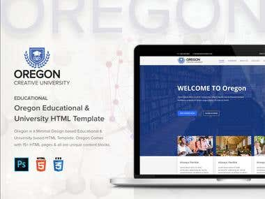 Oregon - Education MultiPage HTML Template