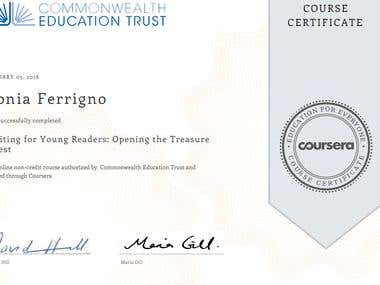 Certificate Writing for Young Readers: Opening the Treasure