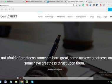 "Digital Marketing and Online Branding of ""LITERARY CHEST"""