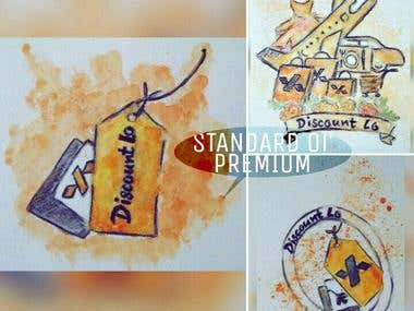 I Will Make Water Color Logo Design for you