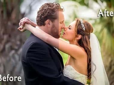 WEDDING COUPLE PHOTO EDITING