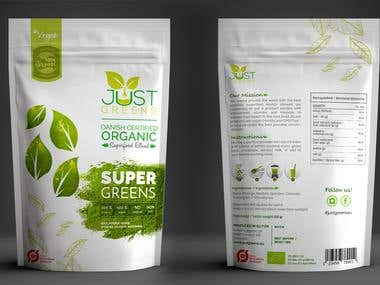Packaging design for JUST GREENS