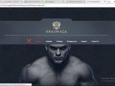 Krawmaga Landing page