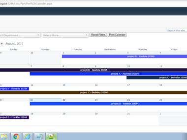 Custom Claender Filter Based on Two Columns Client Side