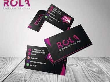 Tarjeta de presentación- Rola