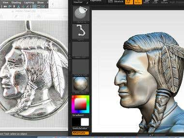 3D Indian Head for 3d printing