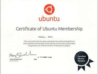 Certificate of Ubuntu Membership