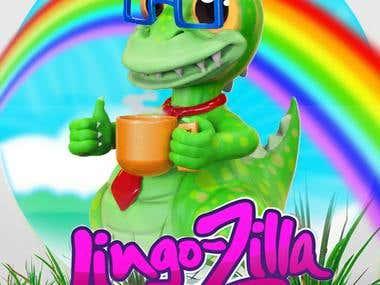 LingoZilla 3d Character from2d Concept Sketch