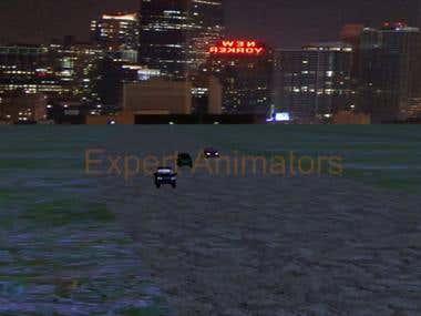 3D Car crash video