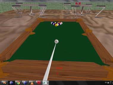 Biliard game using opengl