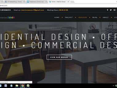 WEBSITE DEVELOPMENT & DIGITAL MARKETING OF INTERIORS SEVEN