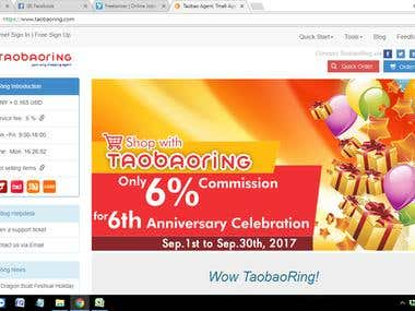 SOCIAL MEDIA OPTIMIZATION and MANAGEMENT of TAOBAORING.