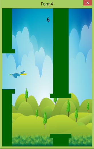 Flappy Bird windows based touch screen game