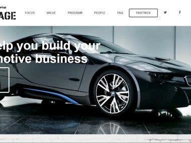 Informational site for Car promotion - BMW