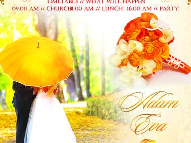 wedding flyer example