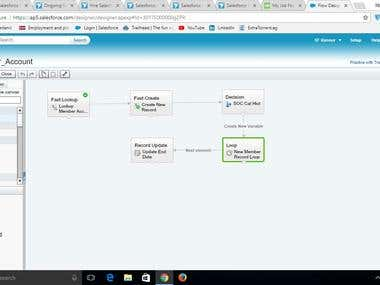 Salesforce VisualFlow