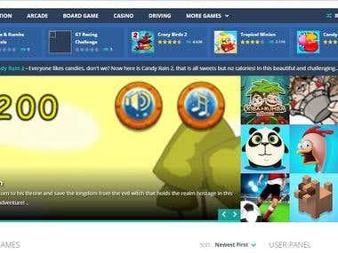 Gaming Website Develop