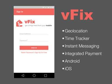 vFix Mobile Application