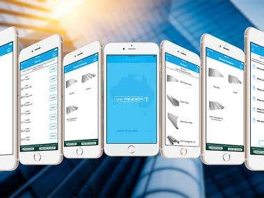 Mobile app to find roof sheet provider for iPhone + Android