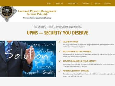 Security Services Website