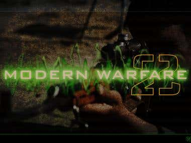 Modernwarfare logo creation from 0