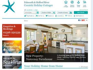 Cornish Holiday Cottages - HTML site