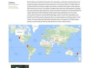 Wordpress site with google map