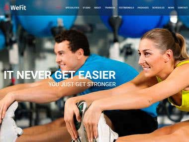 Fitness / Gym Website