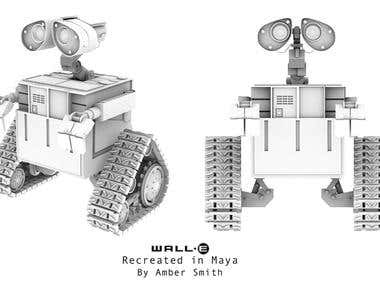 Recreation of Pixar Character Wall-E in Maya