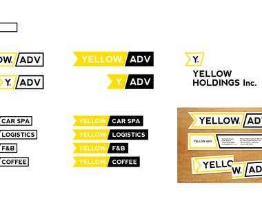 Yellow Brand Logo & Business Card Design