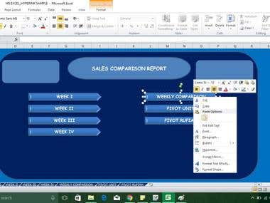 REPORT INDEX IN MS EXCEL USE HYPERLINK