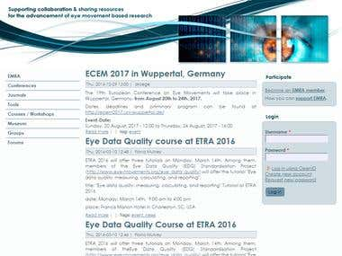 Eye Movement Researchers' Association Website